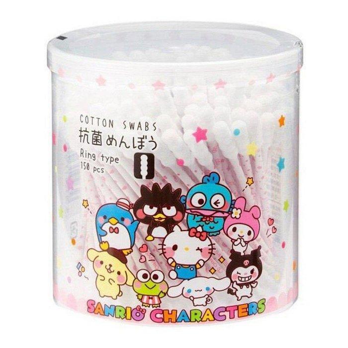 三麗鷗 KITTY 日本製 抗菌 紙軸棉花棒-全人物 056270 kitty 056263 通販 限定 特價出清