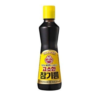 韓聚?韓國 不倒翁 100%頂級醇香芝麻油 香油 110ml 濃純香的韓國芝麻油韓式芝麻油