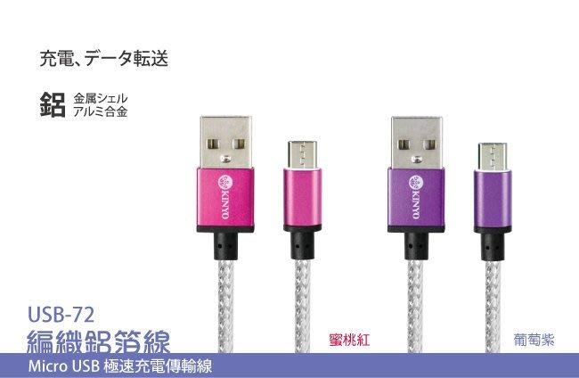 【鉦泰生活館】Micro USB 極速充電傳輸線USB-72