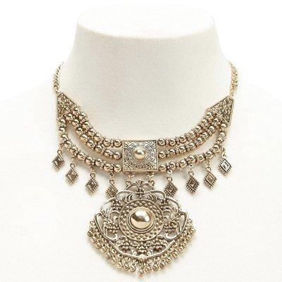 正品 FOREVER 21 ornate statement necklace[antique gold]華麗古董金項鍊