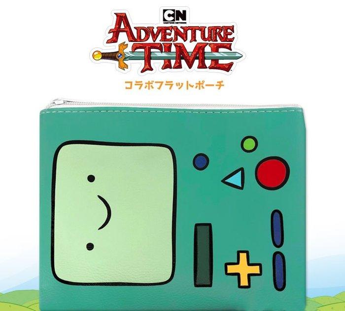 【現貨】【日本限定】美國超人氣卡通動漫探險活寶Adventure Time 嗶莫可愛防水皮革收納包 化妝包 拉鍊式隨身包