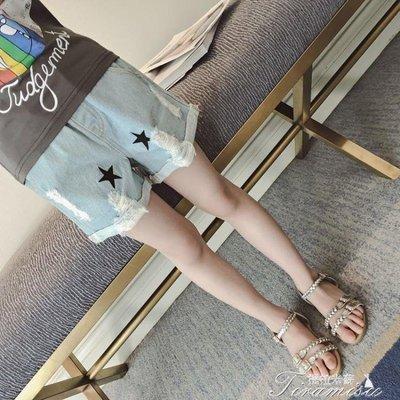 ZIHOPE 女童牛仔短褲 夏新款夏裝薄款兒童破洞褲子女大童夏季韓版洋氣ZI812