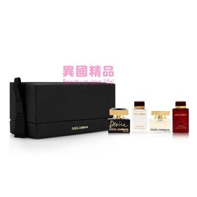 Dolce&Gabbana Fragrance Mini 女用小香四件禮盒組 5ml*2/4.5*2【特價】§異國精品§