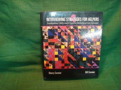 【愛悅二手書坊 08-24】INTERVIEWING   STRATEGIES  FOR  HELPERS