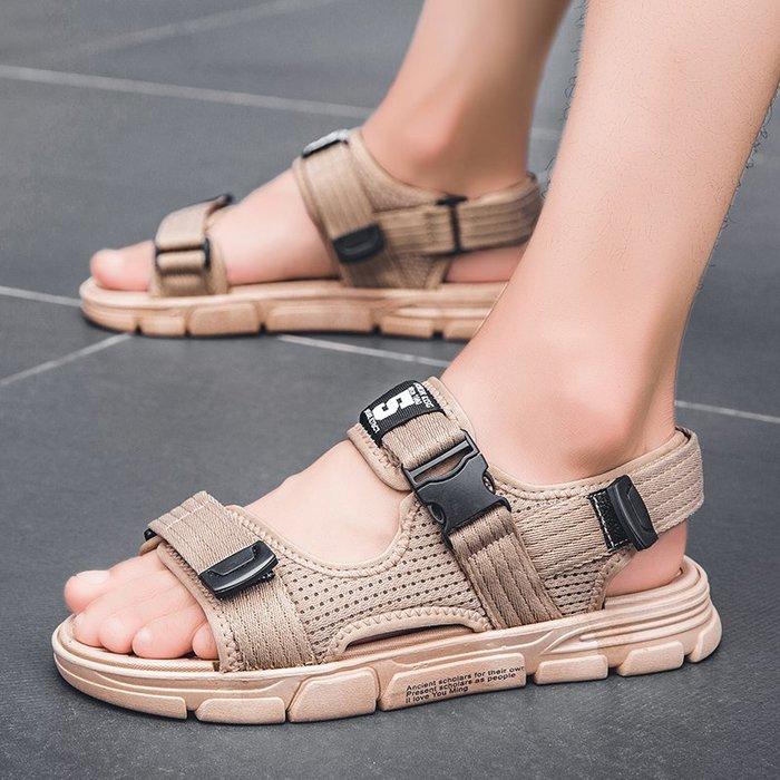 6Du spot~潮牌男士涼鞋2020新款夏季百搭沙灘鞋ins潮流運動韓版休閑涼拖鞋