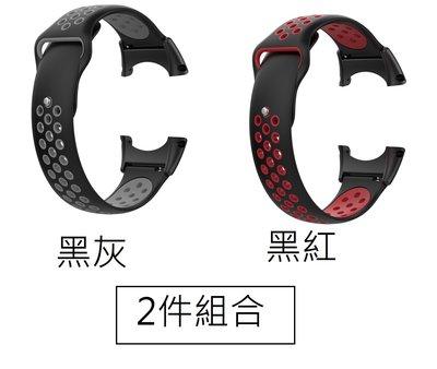 【現貨】ANCASE 2件組合 Suunto Core all black 矽膠軟膠 雙色 錶帶