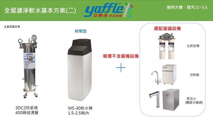 (誠寶衛材)全屋式淨水器~德國格溫拜克~亞爾浦,讓全家人無憂無氯(3DC2除氯桶,WS-30軟水機)