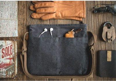 工裝風 小包 油蠟封布包  復古風 帆布包 肩背包 斜背包