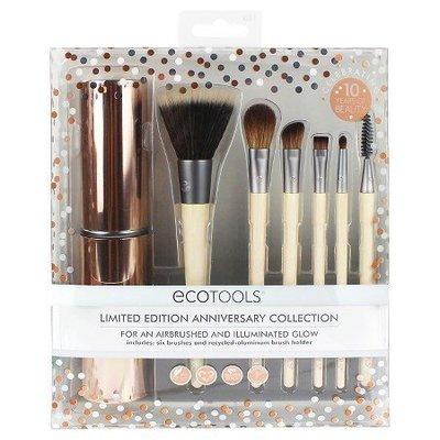 【愛來客 】新款美國EcoTools 10週年限量紀念化妝刷7件刷具組1331#