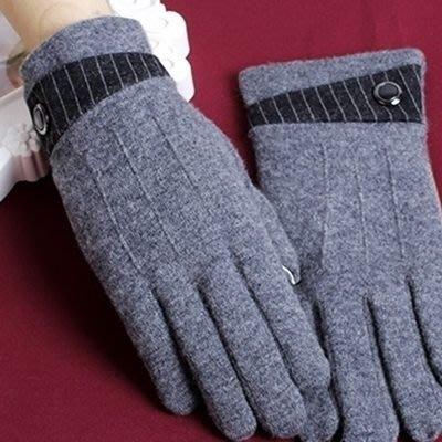 羊毛手套 觸控男手套-商務保暖加厚可觸屏時尚配件72q8[獨家進口][米蘭精品]