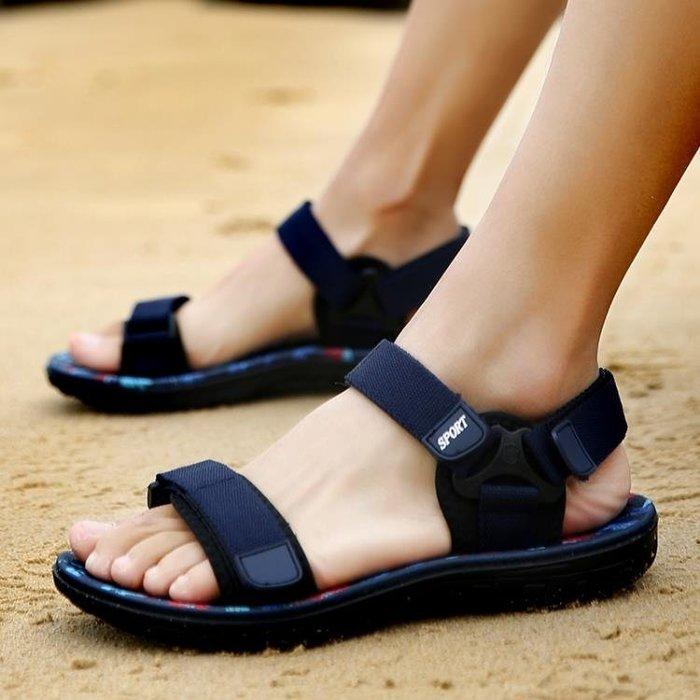 現貨/越南鞋子夏季男士涼鞋正韓潮流男款拖鞋套腳涼拖厚底沙灘鞋魔術貼120SP5RL/ 最低促銷價