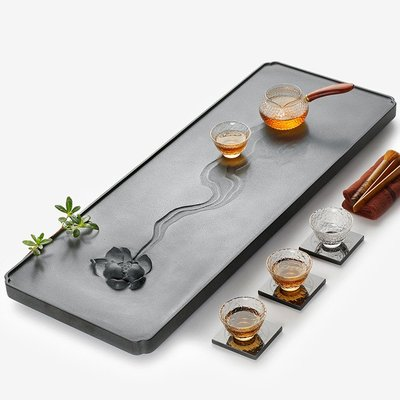 【睿智精品】石茶盤 功夫茶盤 茗茶 泡茶石盤 烏金石茶盤(GA-4413)