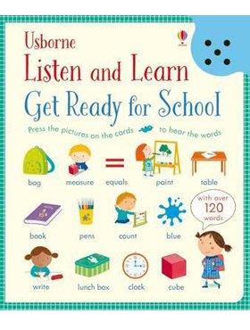 *小貝比的家*LISTEN AND LEARN GET READY FOR SCHOOL/精裝/3~6歲/字彙聲音書