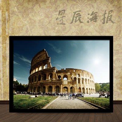 意大利風光梵蒂岡聖彼得大教堂羅馬鬥獸場旅行照片牆星辰海報5