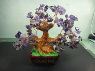 【競礦網】漂亮天然紫水晶招財樹(小)風水師的最愛(親民價、便宜賣、限量5組)原價350元