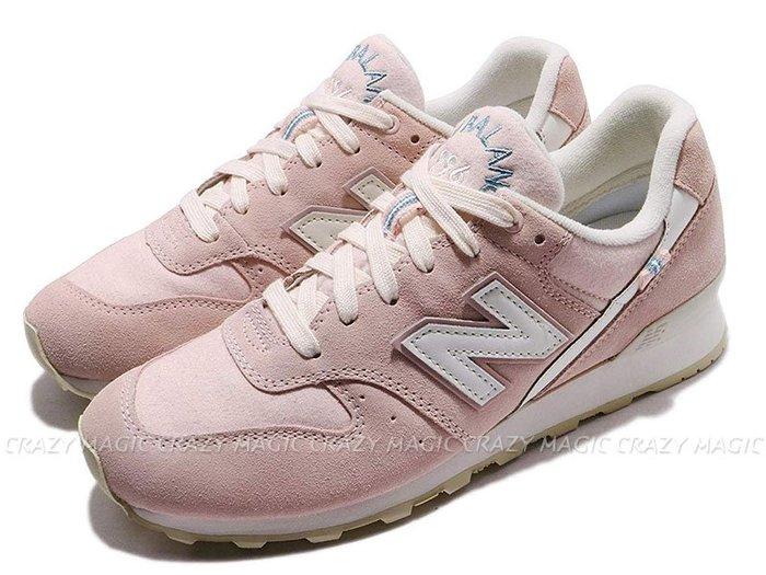 NEW BALANCE NB 996 復古休閒鞋 麂皮 麻布 粉白色 女生 # WR996YD