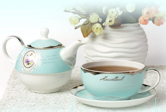 粉紅玫瑰精品屋~創意奢華骨瓷咖啡杯茶壼 歐式茶杯壼陶瓷套裝~現貨+預購