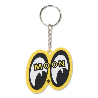 (I LOVE 樂多)MOONEYES MOON YELLOW EYE SHAPED KEY RING 立體軟膠鑰匙圈