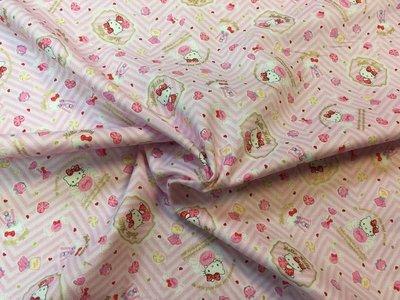 【傑美屋-縫紉之家】日本限量卡通布~三麗鷗粉紅夢幻凱蒂貓Hello Kitty G8067-1B 一般棉布
