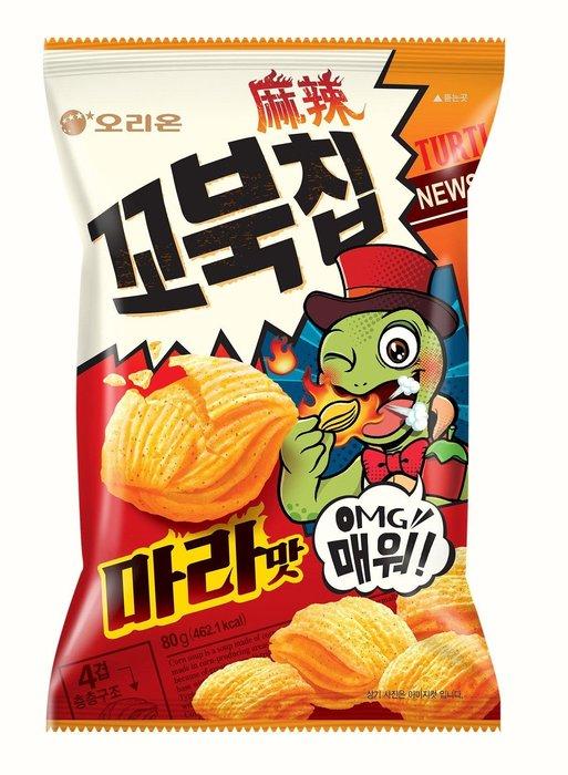 ~魔寶窩~韓國好麗友ORION烏龜餅麻辣口味,80克