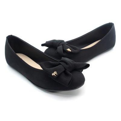 ❤含運❤鞋念 美人館 MIT精緻蝴蝶扭結超值平底美鞋-黑36-40碼 (709-89)