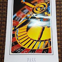 【收藏新天地】約二十年前《PASS - 機會輪盤海報》華麗雅緻 ◎ 值得收藏 (((199元起標 ◎ 運費可合併)))
