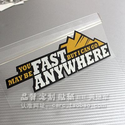貼紙適用于汽車貼紙  越野 全地形 Go Anywhere 車貼 4100