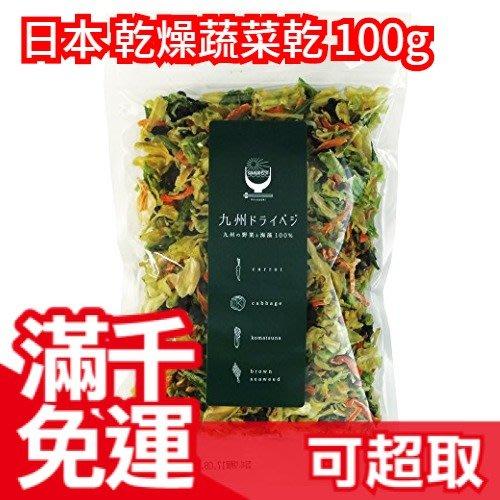 日本 九州製 乾燥蔬菜乾 100g 1包相當於1.4kg蔬菜量 可搭配味增湯 義大利麵 炒飯 沙拉燉飯❤JP