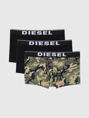 Diesel 男款 3Pack UMBX-DAMIEN 迷彩 四角褲 內褲 三件裝 LOGO  現貨