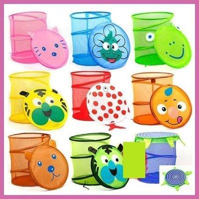 HAPPY小舖~可愛卡通圖案~紅色魚黃色虎~附蓋卡通收納籃 可折疊洗衣籃 收納籃 玩具籃 置物籃~1個100元 送贈品!