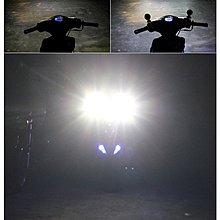 靈獸 惡魔眼霧燈 防水 輔助大燈 LED霧燈 LED大燈 雙色 外掛式霧燈 前叉霧燈 超白光 機車 摩托車 檔車