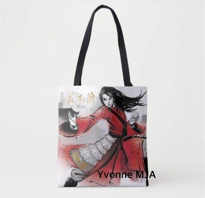 *Yvonne MJA* 美國 Disney  迪士尼 預購區 限定正品 電影 花木蘭 萬用提袋