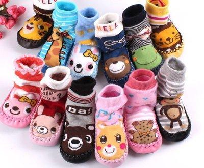 ☆貝比HOUSE☆『襪類』秋冬現貨~日單最新超可愛卡通造型寶寶襪套布底保暖地板襪/鞋