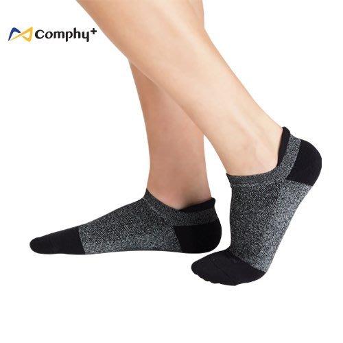 【線上體育】COMPHY+ 阿瘦集團 勁能踝上襪-黑色 L