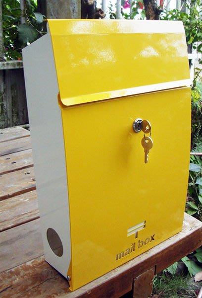 ☆成志金屬廠 ☆ 彩色不鏽鋼信箱---前開式 ---黃色