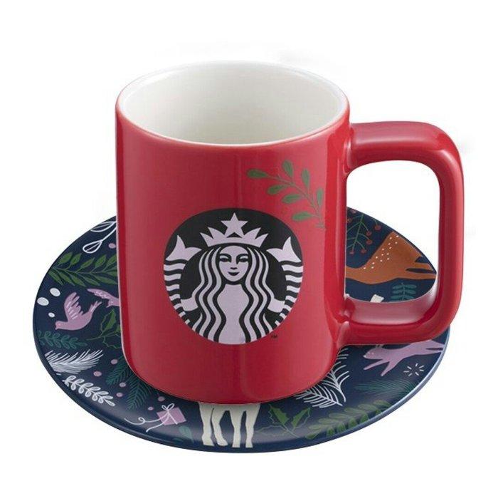 天使熊雜貨小舖~starbucks 星巴克耶誕樂園杯盤組  全新現貨