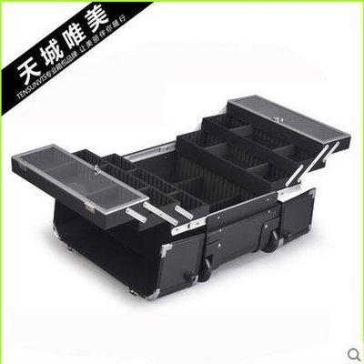 【優上】韓版大號專業美容工具箱多層化妝箱跟妝箱拉桿紋繡箱美甲箱