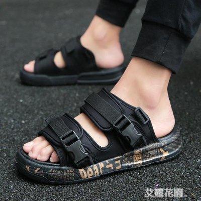 個性拖鞋男韓版潮流2020新款男士涼鞋夏季室外沙灘時尚外穿涼拖鞋
