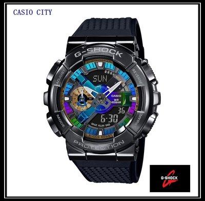 [CASIO CITY]G-SHOCK 110金屬外殼系列黑色炫彩~重工業風的粗曠男人感GM-110B- 1A