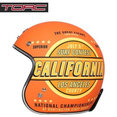 安全帽美國TORC摩托車復古頭盔男女半覆式機車個性夏季半盔安全帽四季