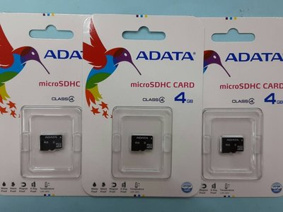 彰化手機館 ADATA 威岡 MicroSD TF 4G TF 宇瞻 記憶卡 class4 TF 4GB T-Flash
