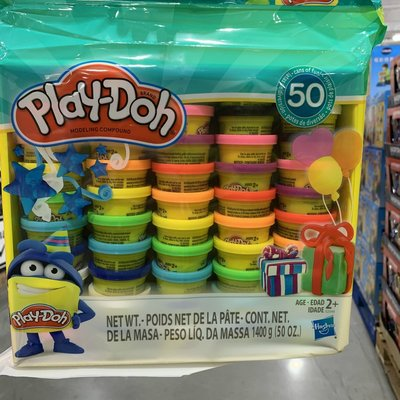 十九的購物車 costco PlayDoh培樂多彩泥橡皮泥彩色粘土兒童益智玩具50罐裝