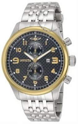 展示品 Invicta 10290 Specialty Black Carbon Fiber GMT Month Date Mens Bracelet