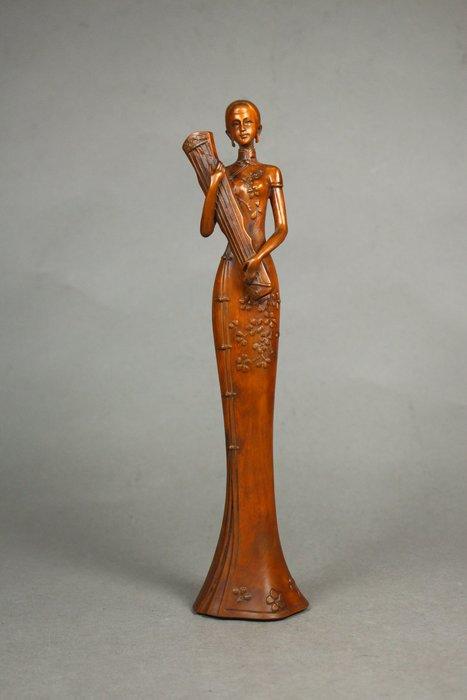 悅年堂 --- 黃楊木 雕 仕女