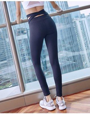 FuNFang_加寬彈力高腰緊身美臀瑜珈褲 健身運動褲