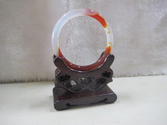 二手舖 NO.4450 天然紅玉髓手鐲 玉鐲 手環 玉環 首飾飾品