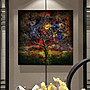 現代客廳臥室餐廳掛畫壁畫無框畫裝飾畫三聯...
