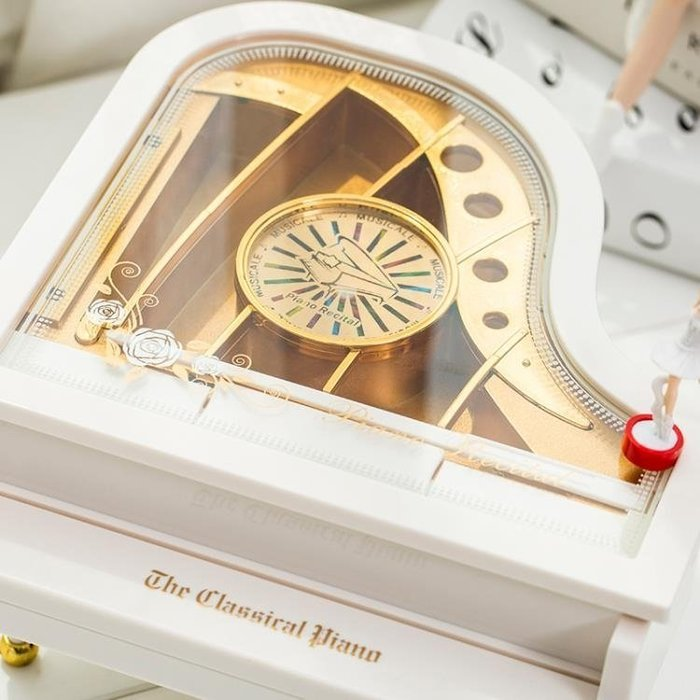 ☜男神閣☞生日禮品創意鋼琴旋轉跳舞芭蕾小女孩音樂盒擺件送女友禮物八音盒