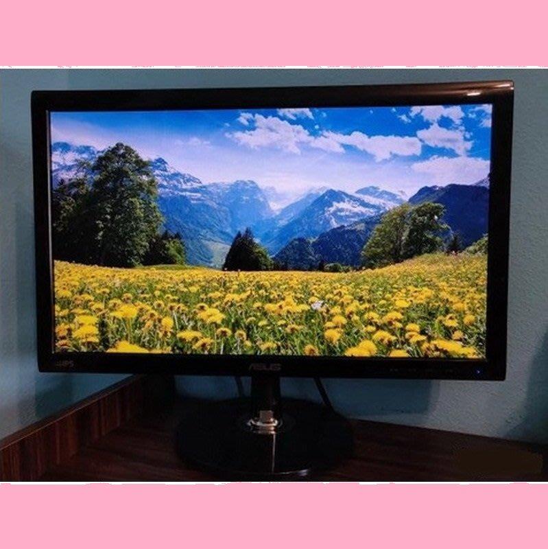 華碩 VS209N 20吋IPS超廣角液晶螢幕、D-Sub / DVI 雙介面輸入、狀況美、中古優質良品、附線組