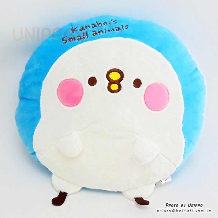 【UNIPRO】Kanahei 卡娜赫拉的小動物 立體 小雞P助 絨毛 圓枕 扁枕 抱枕 靠枕 禮物 三貝多正